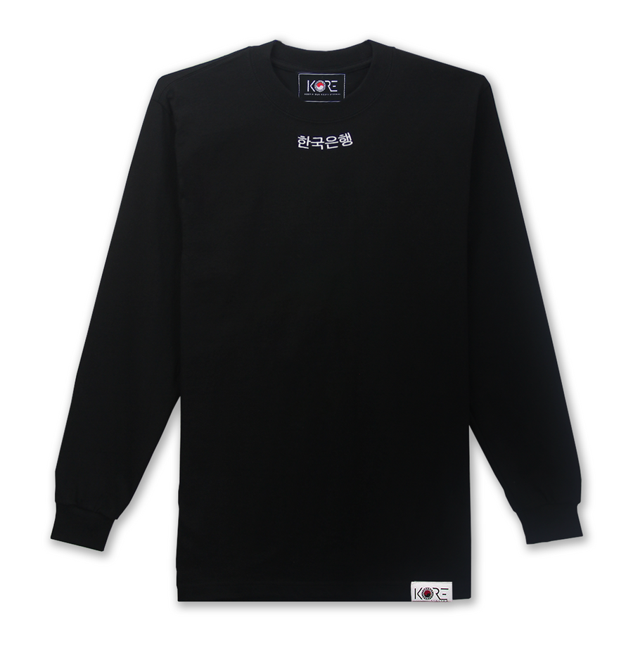 KOREA BANK LONG SLEEVE (BLACK)