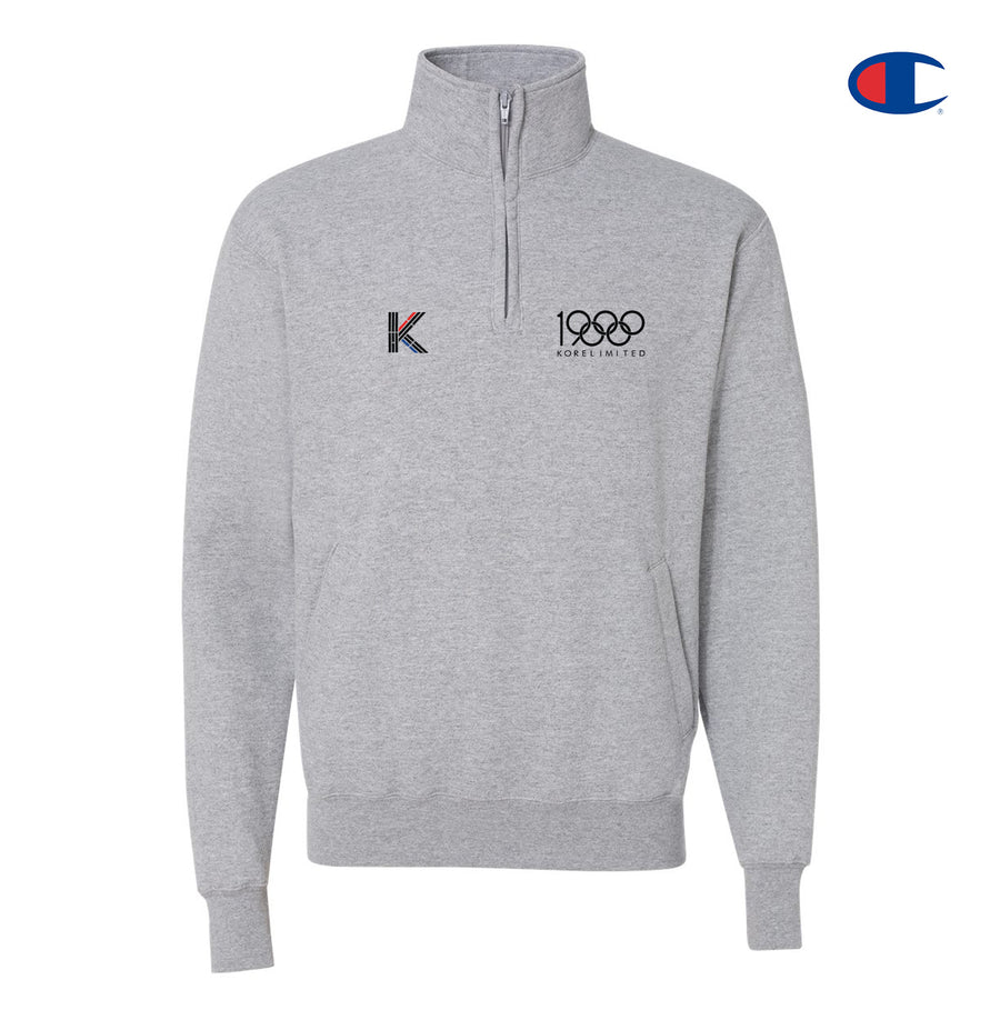 LA TO SEOUL V2 CHAMPION QUARTER ZIP (HEATHER GREY)