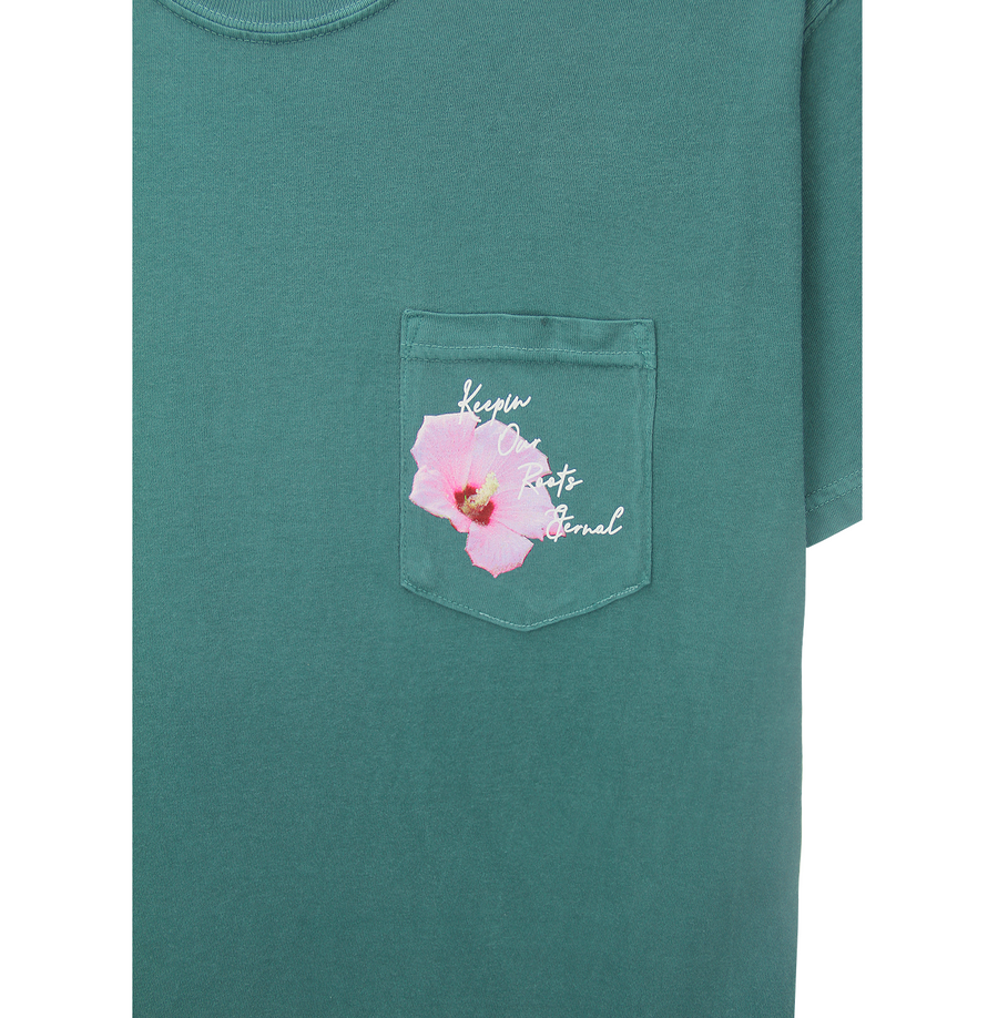 MUGUNGHWA POCKET TEE (EMERALD)