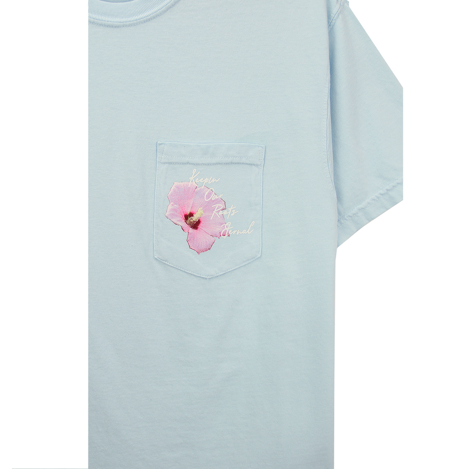 MUGUNGHWA POCKET TEE (LIGHT BLUE)