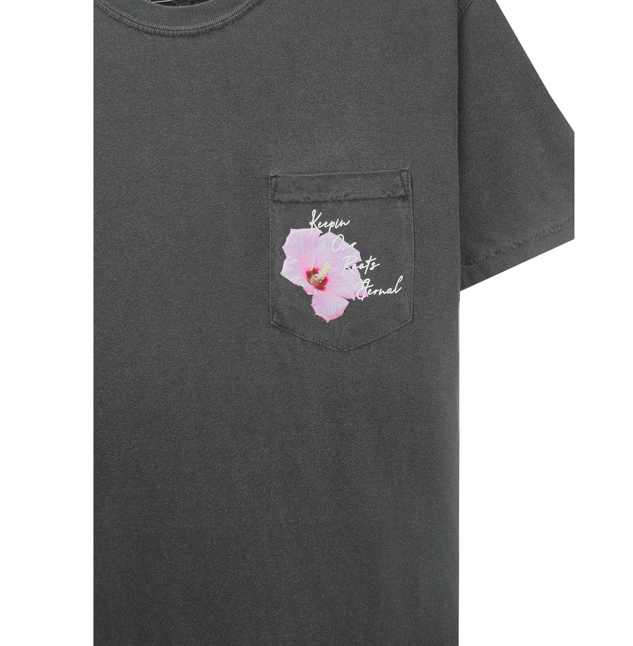 MUGUNGHWA POCKET TEE (CHARCOAL)