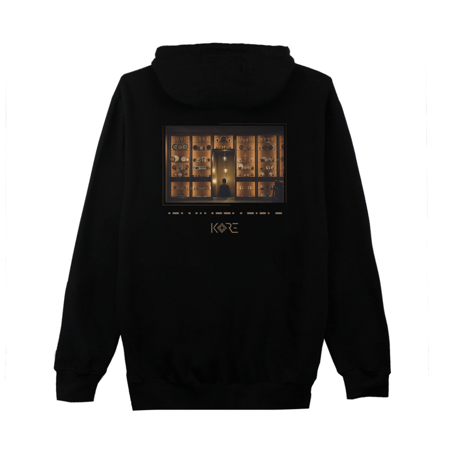 Black Korean Hoodie with respect