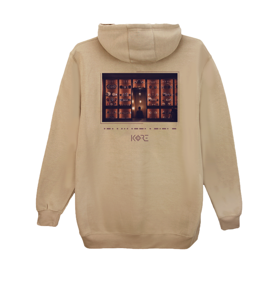 Beige Korean Hoodie with respect
