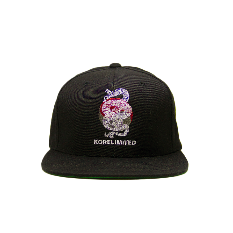 Black snake snap Korean apparel with Korean flag