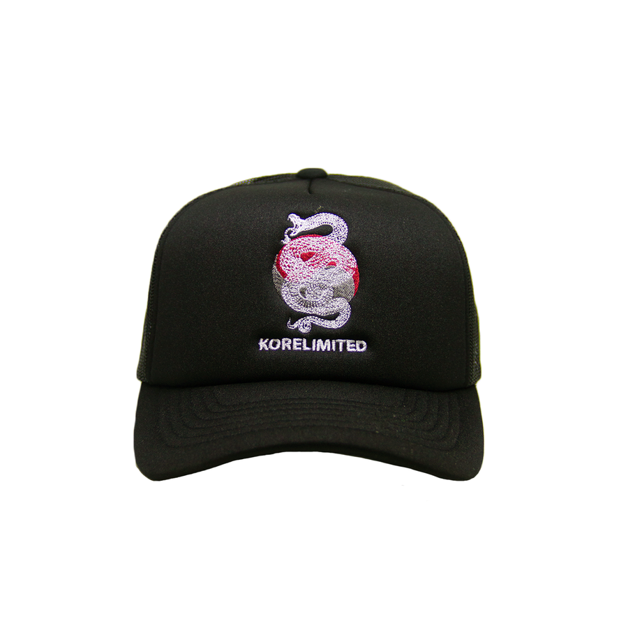 Black snake trucker cap Korean apparel