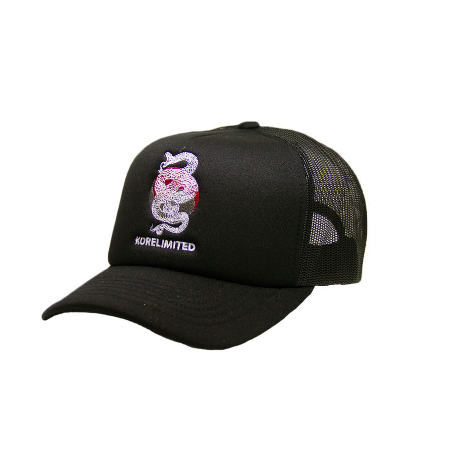 SNAKE TRUCKER CAP (BLACK)
