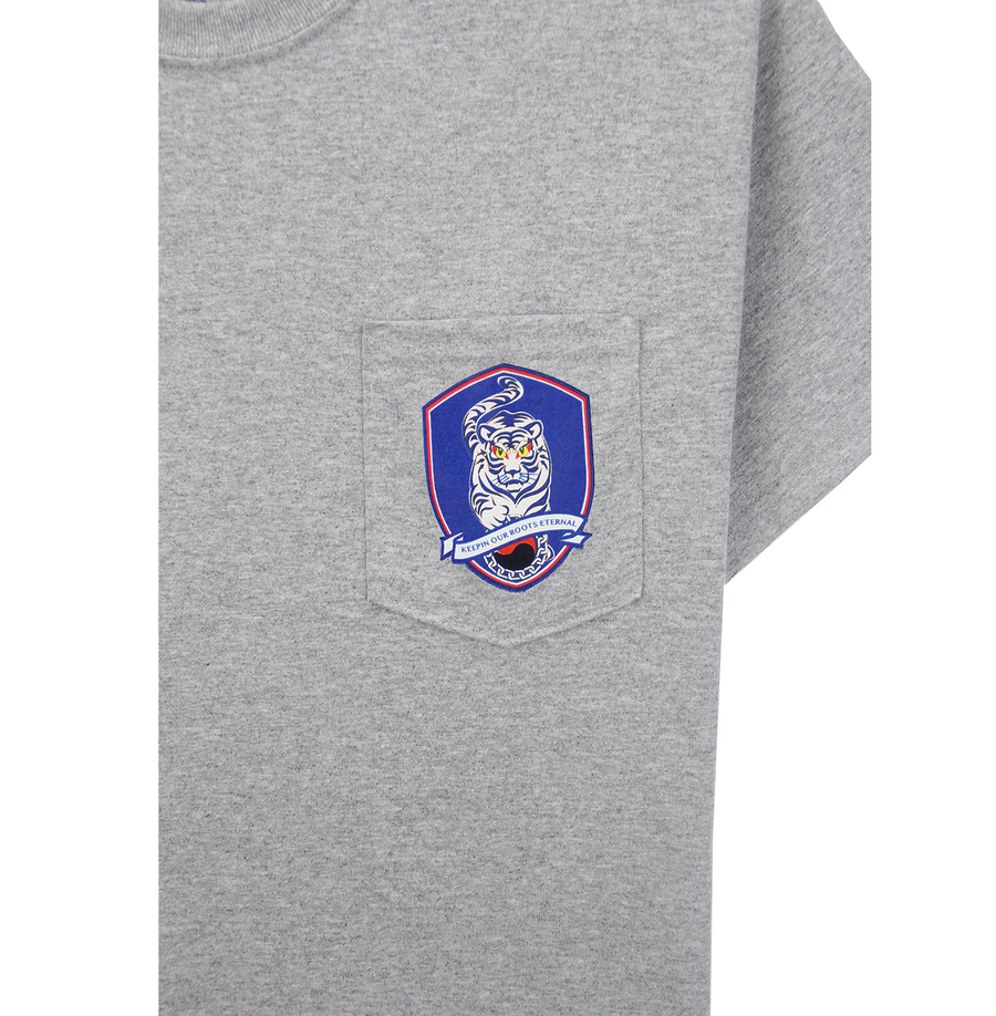 TIGER FOOTBALL POCKET TEE (HEATHER GREY)