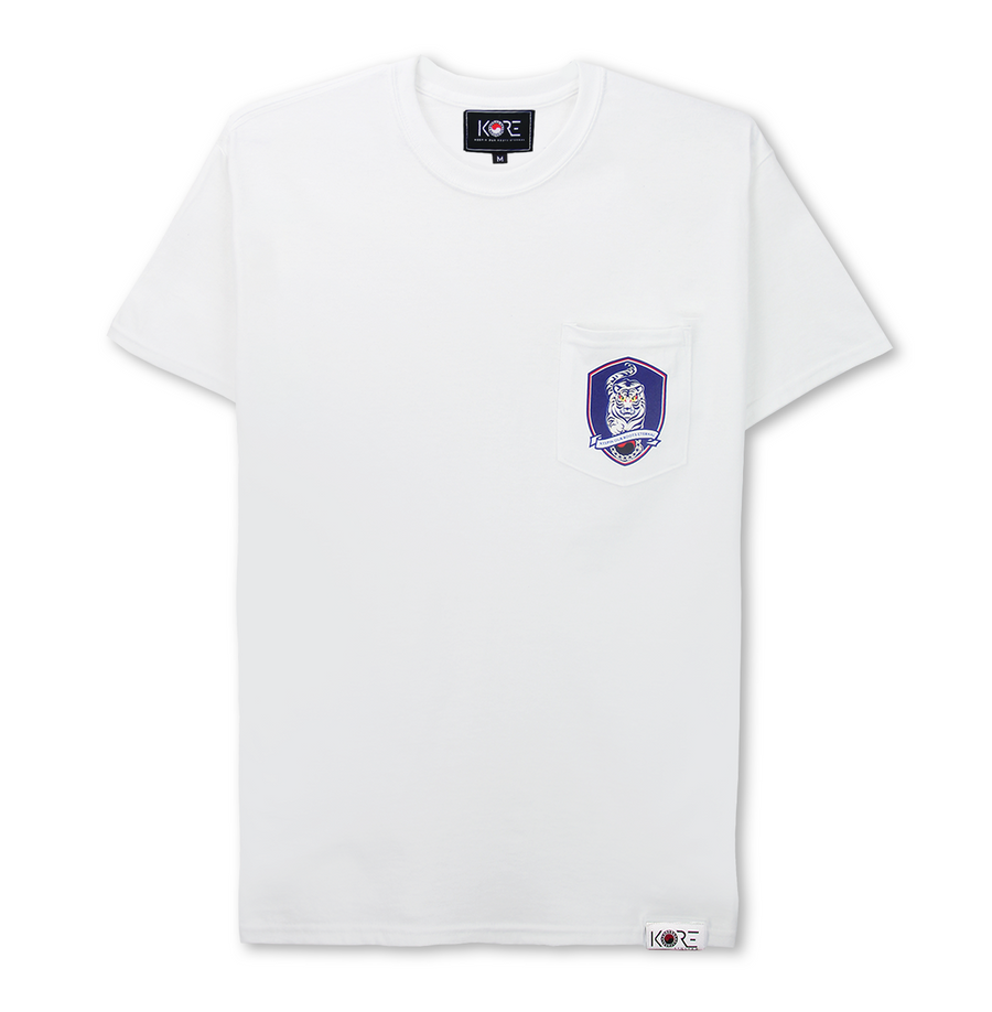 TIGER FOOTBALL POCKET TEE (WHITE)