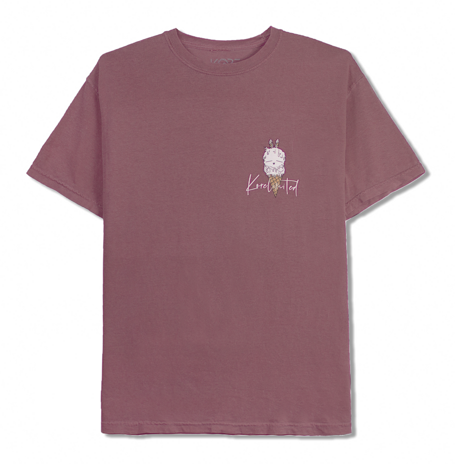 DOUBLE SCOOP TEE (BERRY)