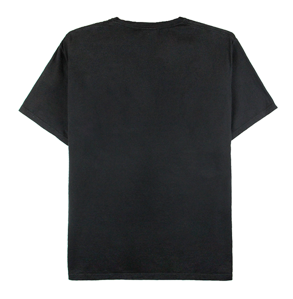 Front view of black ComfortWash tee with an 88 embroidery on the chest.