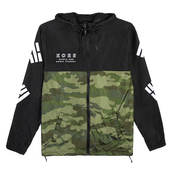 TAEGUK WINDBREAKER JACKET (BLACK/CAMO) - LIMITED EDITION