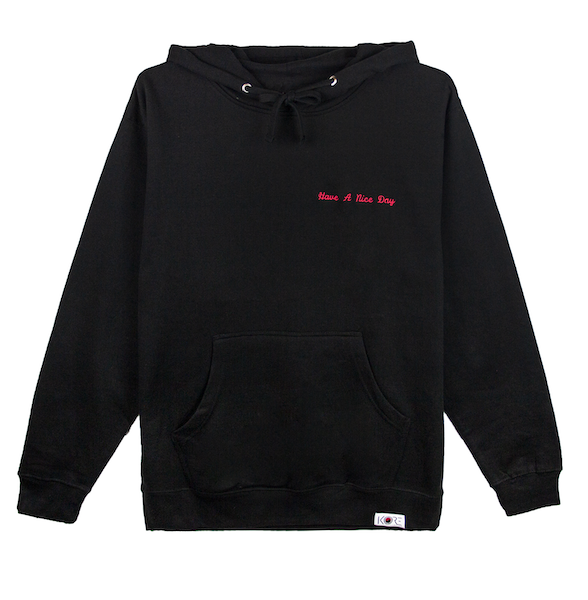 HAVE A NICE DAY HOODIE (BLACK)