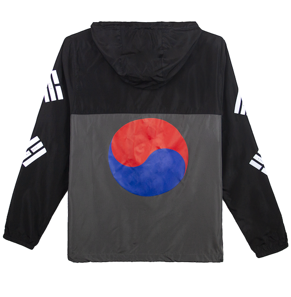 TAEGUK WINDBREAKER JACKET (BLACK/GRAPHITE)
