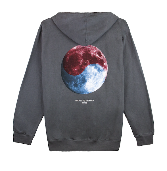 ROCKET TO THE MOON HOODIE (CHARCOAL)