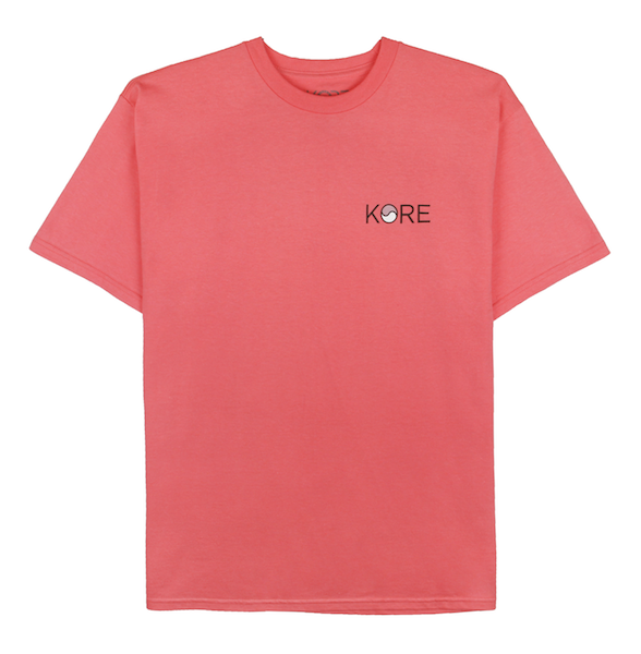 STAMP TEE (CORAL) - KORE LIMITED