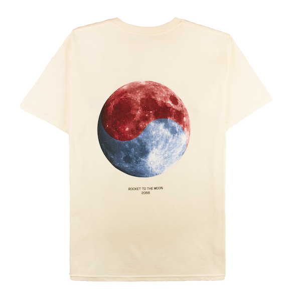 ROCKET TO THE MOON TEE (CREAM)