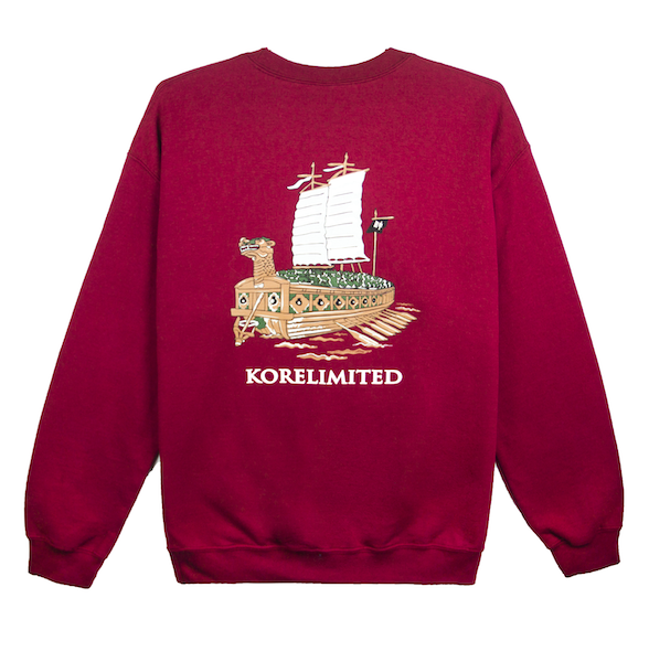 TURTLE SHIP CREWNECK (GARNET)
