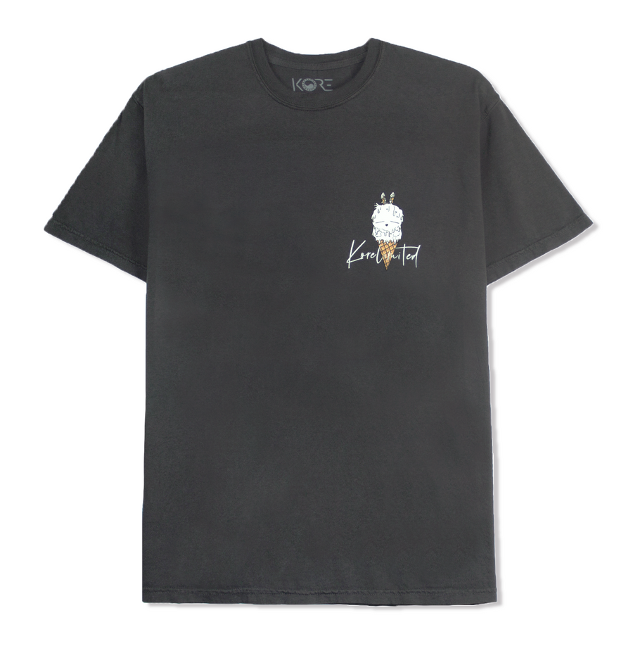 DOUBLE SCOOP TEE (GRAPHITE)