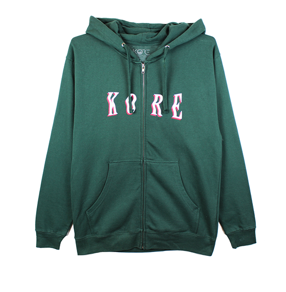 FALCON ZIP UP HOODIE (FOREST GREEN)