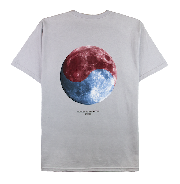 ROCKET TO THE MOON TEE (SILVER)