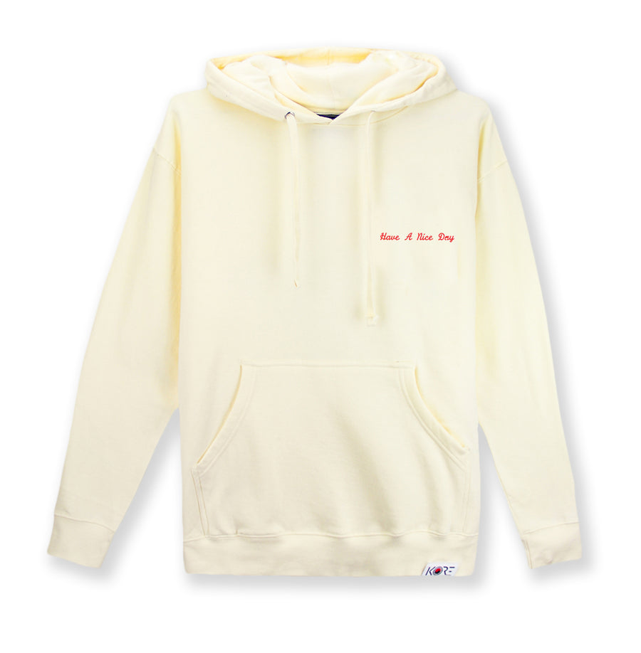 HAVE A NICE DAY HOODIE (CREAM)