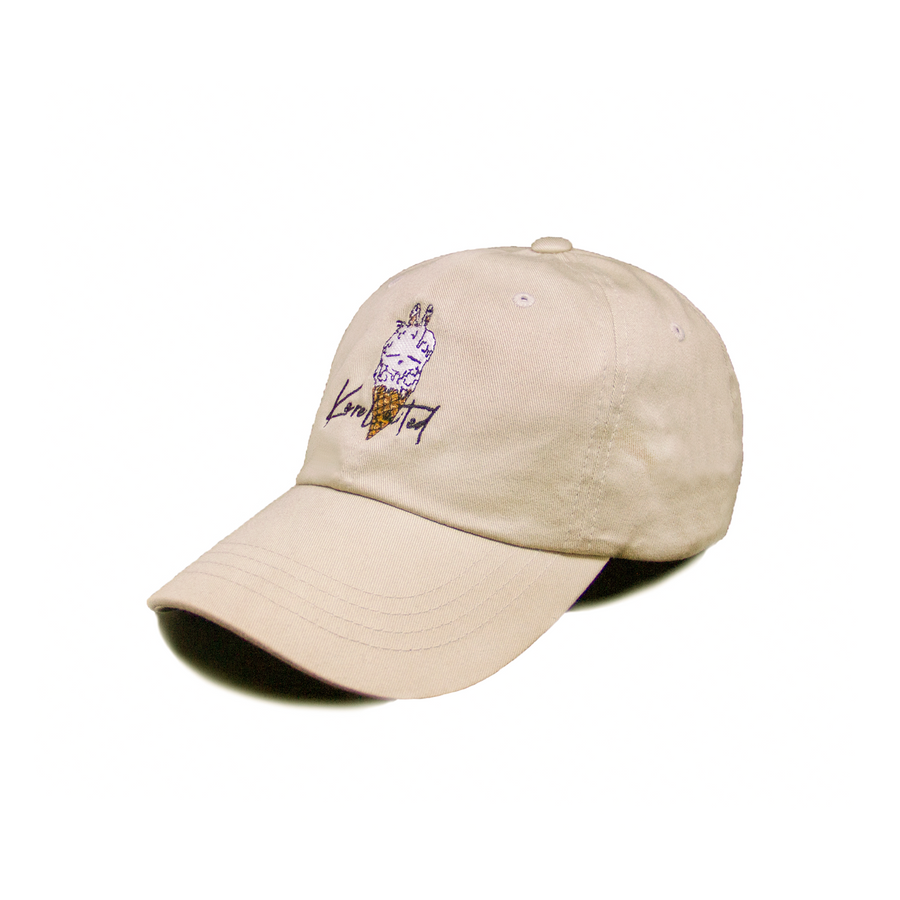 DOUBLE SCOOP DAD HAT (KHAKI)