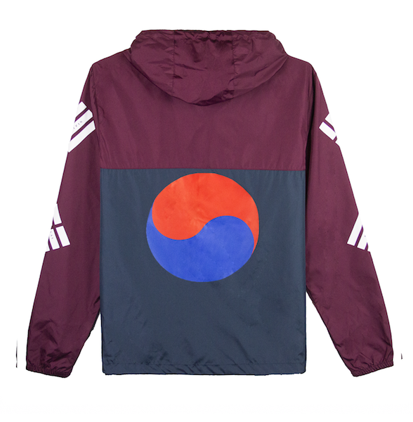 TAEGUK WINDBREAKER JACKET (MAROON/NAVY)