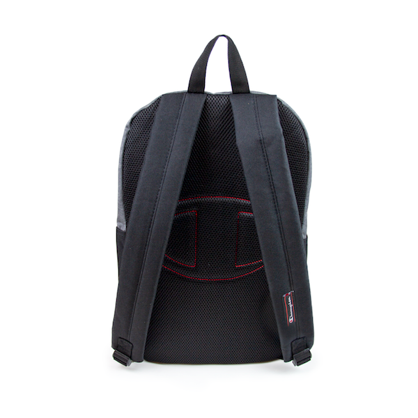 Back view of dark grey and black Champion backpack. KORE Limited - Keepin Our Roots Eternal