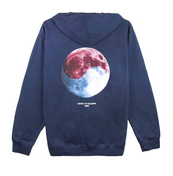 ROCKET TO THE MOON HOODIE (NAVY)
