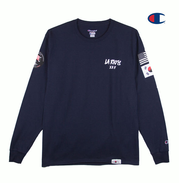 LA RIOTS SPECIAL EDITION LONG SLEEVE (NAVY)