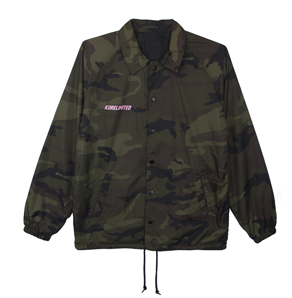 KORELIMITED K COACH JACKET (LIMITED EDITION - PINK ON CAMO)