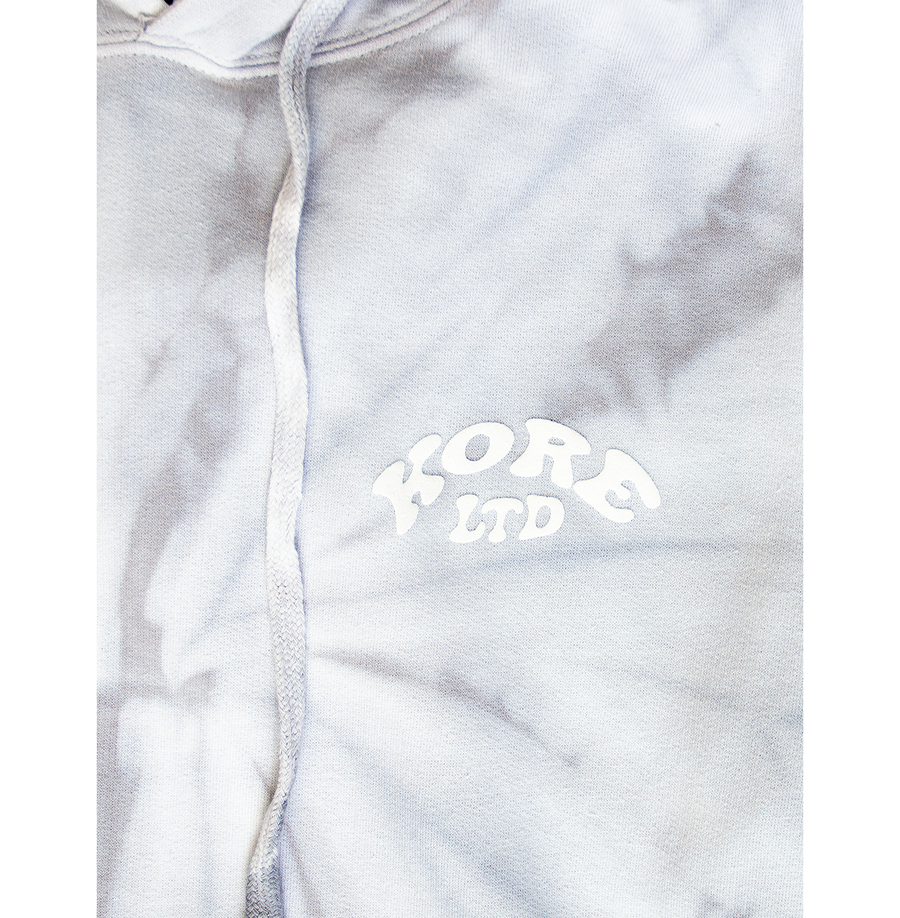 THE WAVE HOODIE WITH PUFF PRINT (GREY)