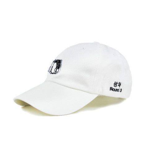 SAMCHA ROUND 3 DAD HAT (WHITE) - KORE LIMITED
