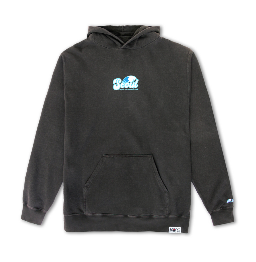 SEOUL WAVE HOODIE (WASHED BLACK)