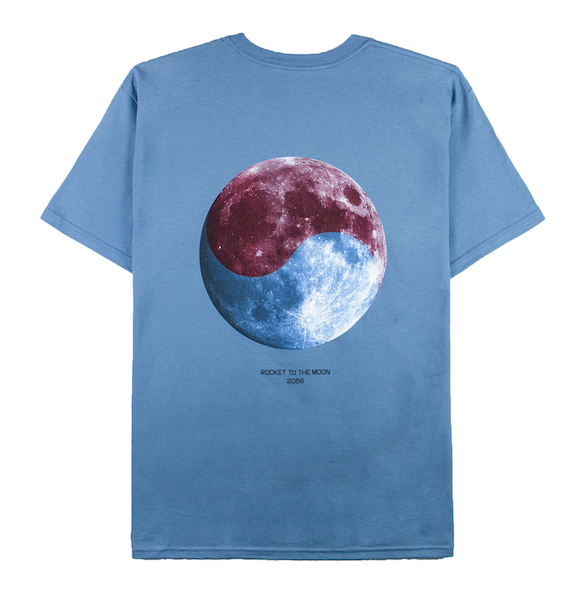 ROCKET TO THE MOON TEE (SLATE)