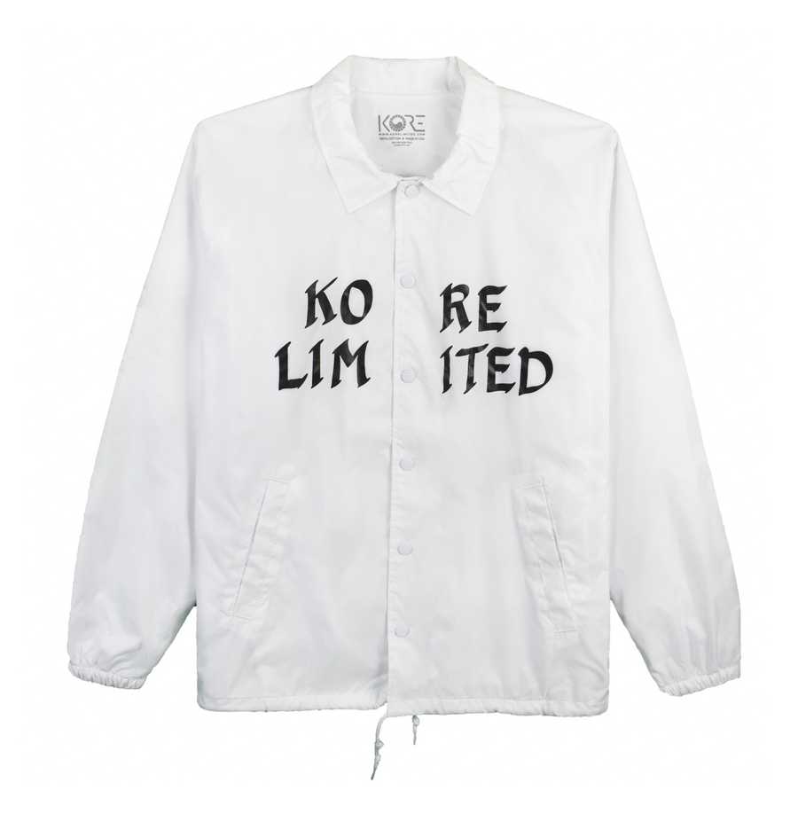 KORE LIMITED COACH JACKET (WHITE)