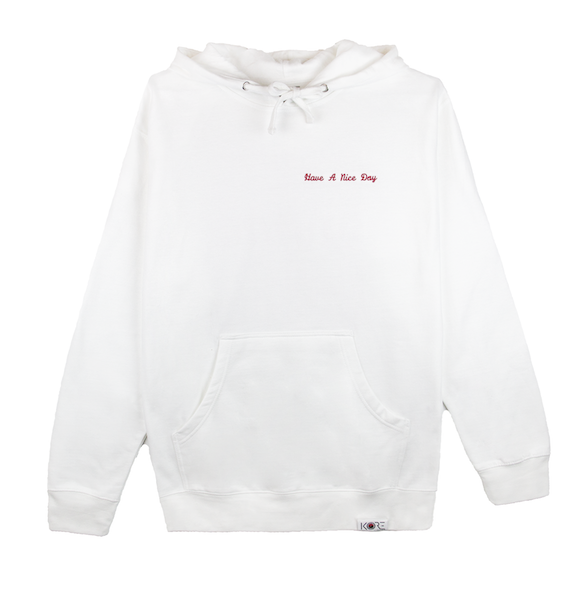 HAVE A NICE DAY HOODIE (WHITE)