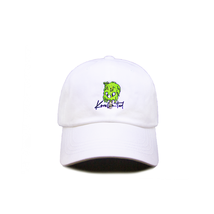 2-2 DRIP DAD HAT (WHITE)