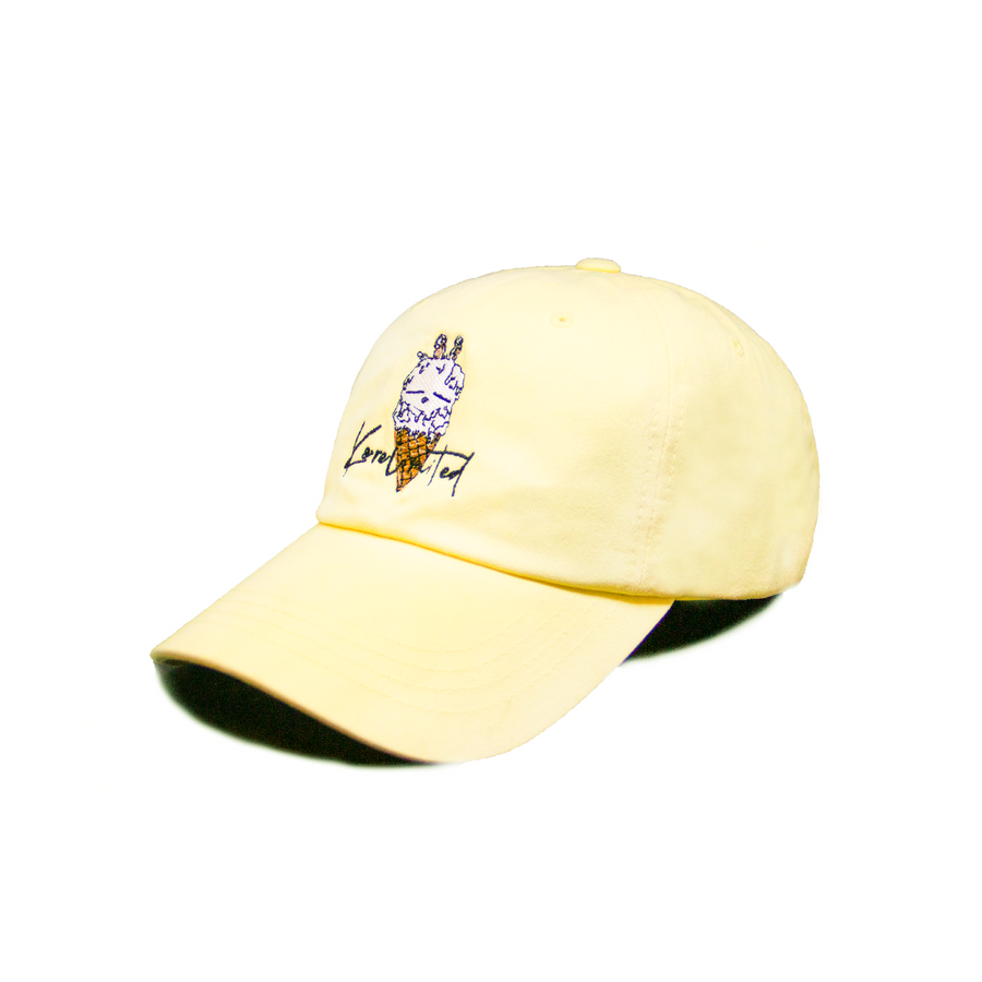DOUBLE SCOOP DAD HAT (YELLOW)