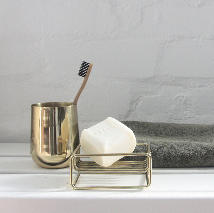 Brass Toothbrush Holder