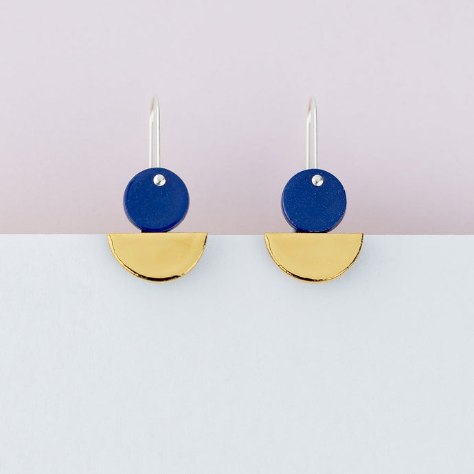 Blue Float Earrings