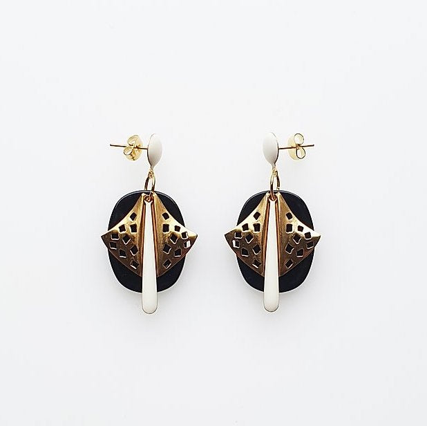 Vito Earrings Black