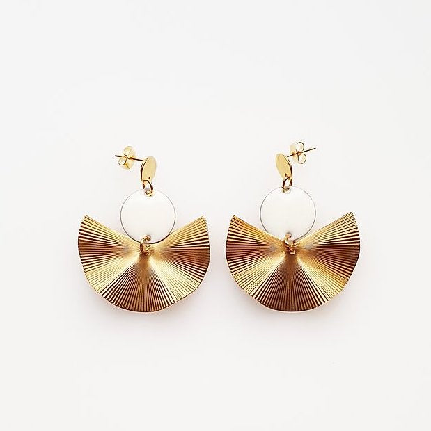 Munroe Earrings White