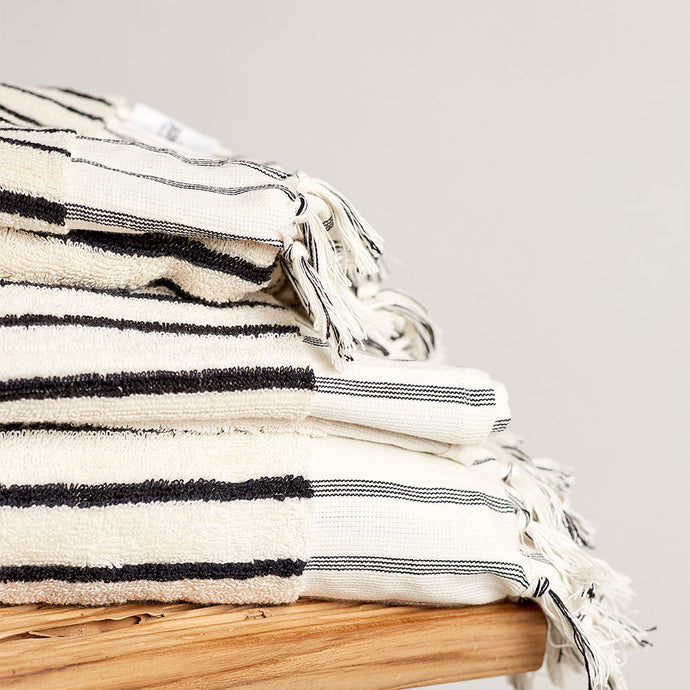 Havva Natural Stripe Bath Sheet