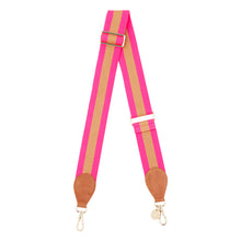 Load image into Gallery viewer, Guitar Strap - Hot Pink & Bronze