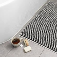 Load image into Gallery viewer, Albatross Black & White Bath Mat