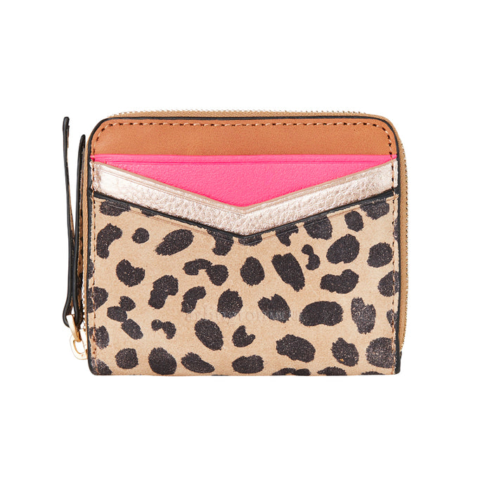 Alexis Zip Purse Spot Suede