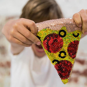Iconic Sequin Pizza Purse