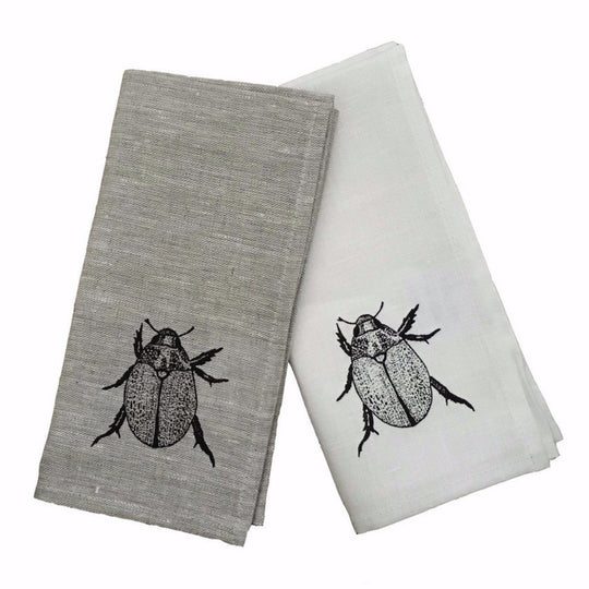 Christmas Beetle Black Napkin Set
