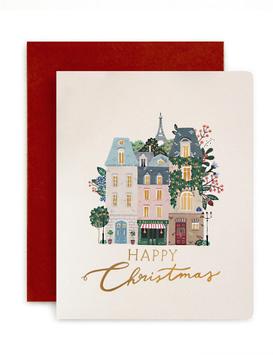 Paris 'Happy Christmas' Card